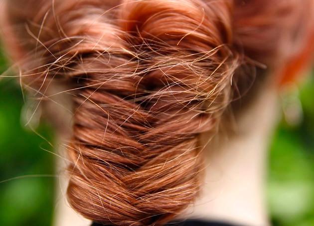 Косичка «Рыбий хвост» для длинных волос