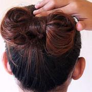 Как сделать бантик из коротких волос